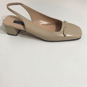 Kate Spade Tan Flat Slingback Shoes sz 8